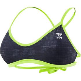 TYR Sandblasted Mojave Haut de maillot de bain à nouer Femme, black